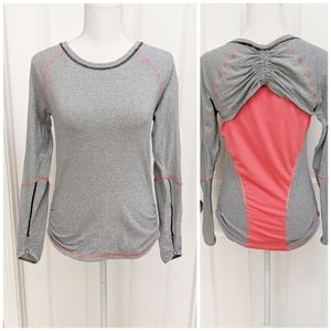 Lucy Tech Dashing Stripes Pink Gray Long Sleeve